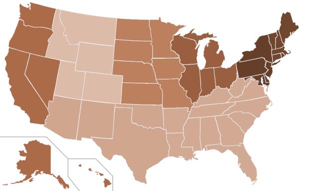 Idle Attorneys Per Capita (BEA Regions, 2012)